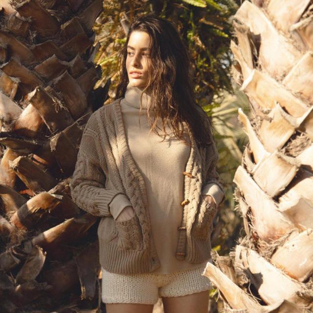 SeaRoomlynn(シールームリン)のCABLEニットジャケット モカ SeaRoomlynn レディースのトップス(カーディガン)の商品写真