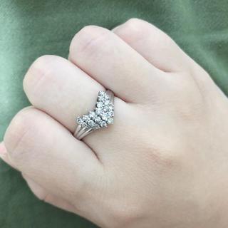 ジュエリーツツミ(JEWELRY TSUTSUMI)のプラチナ900 貴金属 ダイヤモンド Vカットリング(リング(指輪))