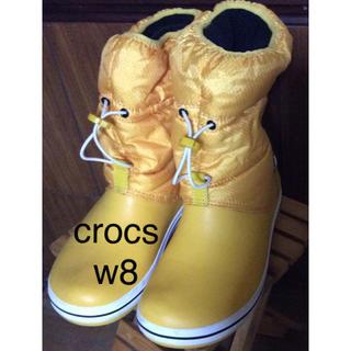 crocs - クロックス スノーブーツ イエロー W8 (中は裏起毛)