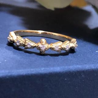 アーカー(AHKAH)のAHKAH K18 ダイヤモンド ミラ リング(リング(指輪))