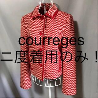 クレージュ(Courreges)の★courregesクレージュ★二度着用のみ★鮮やかな色合い!長袖ジャケット38(テーラードジャケット)