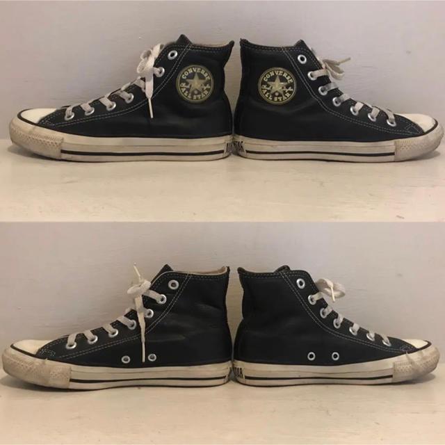 CONVERSE(コンバース)の90's コンバース オールスター USA製 黒ハイカットレザー 21.5㎝ レディースの靴/シューズ(スニーカー)の商品写真