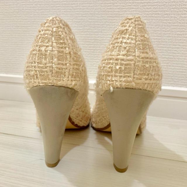 EVOL(イーボル)のEVOL pure soeur イーボル ラウンドトゥツイードパンプス レディースの靴/シューズ(ハイヒール/パンプス)の商品写真