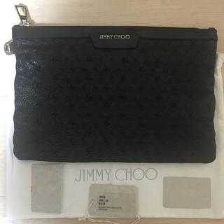 ジミーチュウ(JIMMY CHOO)のジミーチュウ  スターエンボス クラッチバッグ  美品 付属品完備(セカンドバッグ/クラッチバッグ)