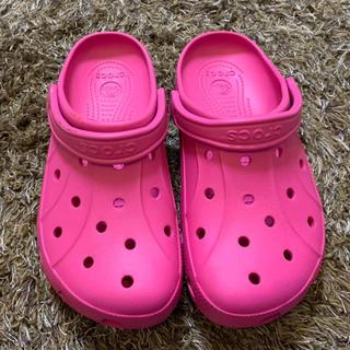 クロックス(crocs)の新品 クロックス サンダル 26cm ピンク ユニセックス W10 メンズ(サンダル)
