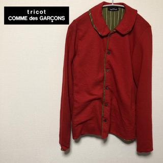 コムデギャルソン(COMME des GARCONS)のレア トリコ コムデギャルソン ウール シャツ レッド AD2000(シャツ/ブラウス(長袖/七分))