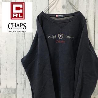 CHAPS - 【激レア】チャップス ラルフローレン☆ビック刺繍ロゴ ビックシルエット90s古着