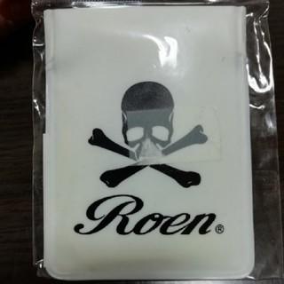 ロエン(Roen)のRoen 携帯灰皿 ② 白地 黒スカル(タバコグッズ)