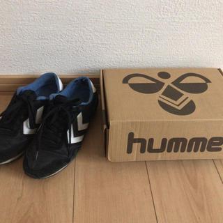ヒュンメル(hummel)のhummel スニーカー 黒 23cm(スニーカー)