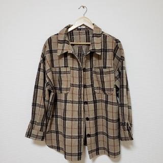 しまむら - 起毛 チェックシャツ