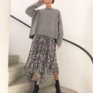 ルシェルブルー(LE CIEL BLEU)のLE CIEL BLEU♡Asymmetric Pleats Skirt(ひざ丈スカート)