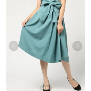 レディアゼル(REDYAZEL)のREDYAZEL ウエストリボン変形スカート(定価9,889)(ひざ丈ワンピース)