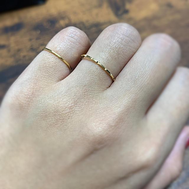 k18  華奢 ピンキーリング レディースのアクセサリー(リング(指輪))の商品写真