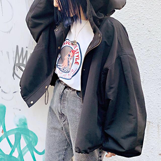 one after another NICE CLAUP(ワンアフターアナザーナイスクラップ)のapres jour 袖ボリュームマウンテンパーカー レディースのジャケット/アウター(ブルゾン)の商品写真