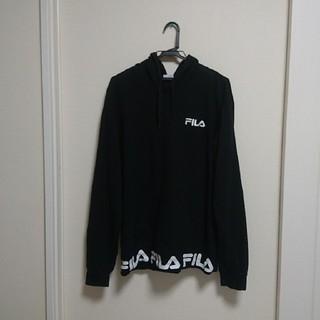 FILA - FILA レディース パーカー 黒 LL