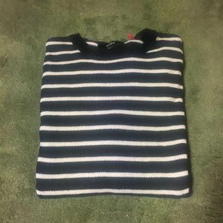 ロンハーマン(Ron Herman)のBANKS セーター ブラック×ホワイト Lサイズ(ニット/セーター)
