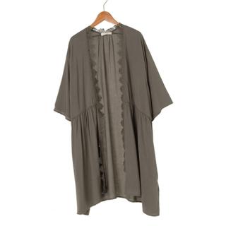 ショコラフィネローブ(chocol raffine robe)のレース7分袖ロングカーデ ショコラフィネローブ(カーディガン)
