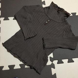 ビケット(Biquette)のピケット♡ブラウンタートルネックTシャツ/100(Tシャツ/カットソー)