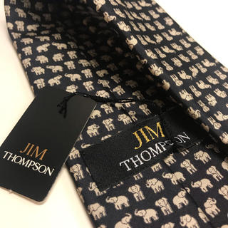 Jim Thompson - ジムトンプソン ゾウ柄 ネクタイ ブラック タグ付き