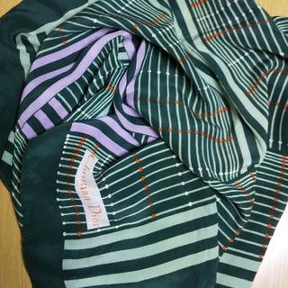 クリスチャンディオール(Christian Dior)の(USED) Christian Dior④ シルク スカーフ 深緑系 和装(バンダナ/スカーフ)