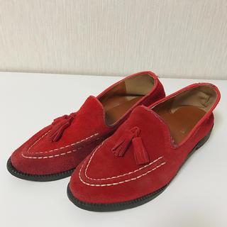 ディーホリック(dholic)のDholic ディーホリック 赤 レッド スウェード ローファー (ローファー/革靴)