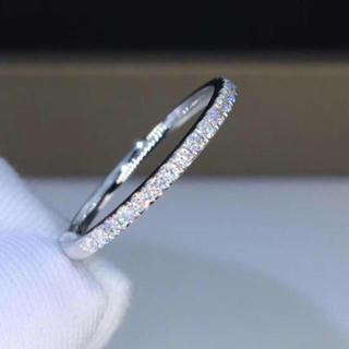 ハーフエタニティ モアサナイト リング k18ホワイトゴールド(リング(指輪))