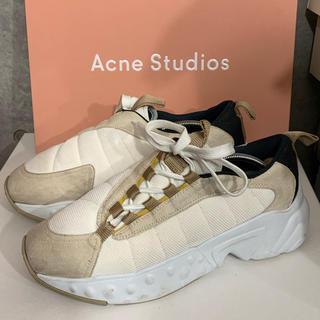 アクネ(ACNE)のAcne Studios ホワイト Sofiane スニーカー 43(スニーカー)