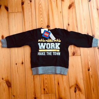 プティマイン(petit main)の新品タグ付き petit main×トミカ コラボトレーナー 100cm(Tシャツ/カットソー)
