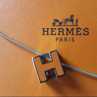 エルメス(Hermes)のエルメス キューブネックレス オレンジ(ネックレス)