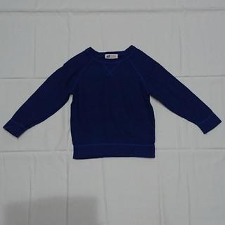 エイチアンドエム(H&M)のH&M110㎝スウェット長袖カットソー青男の子ニット(Tシャツ/カットソー)