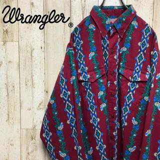 ラングラー(Wrangler)の【大人気】 ラングラー  マルチストライプ  総柄 ボタンダウンシャツ(シャツ)