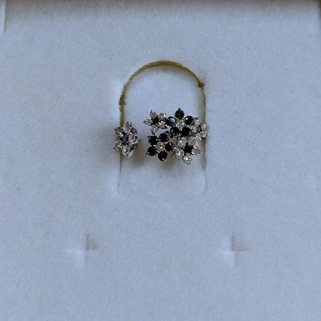 K18 WG BKダイヤ 指輪 リング ブラックダイヤ ダイヤモンド レディースのアクセサリー(リング(指輪))の商品写真
