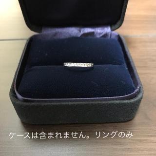 リング シンプル 銀色 レディース 10号 ノーブランド(リング(指輪))