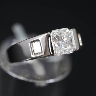 Pt900 プラチナ 1.002ct プリンセスカット ダイヤモンド リング(リング(指輪))