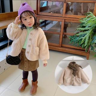 コドモビームス(こども ビームス)の新品 キッズ ベビー もこもこ アウター ボア コート 韓国 子供服 100(コート)