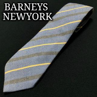 バーニーズニューヨーク(BARNEYS NEW YORK)のバーニーズニューヨーク レジメンタル ブルー ネクタイ ウールA101-C13(ネクタイ)