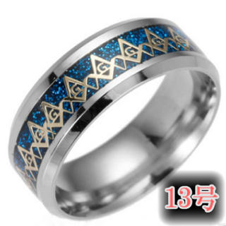 フリーメイソンリング13号ブルー(リング(指輪))