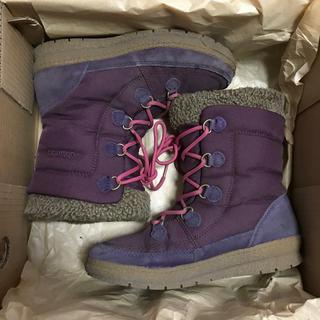 コロンビア(Columbia)のColumbia  ハーフショートブーツ  紫色(ブーツ)