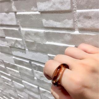 ブラウンべっこうリング ☆ 約12号(リング(指輪))