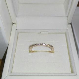 ヨンドシー(4℃)の4℃ K18 ダイヤモンド ハーフエタニティ リング(リング(指輪))