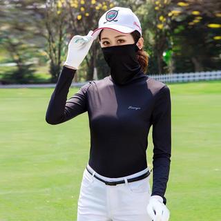 日焼け止め素材 ハイネックゴルフウェア テニスウェア(ウエア)