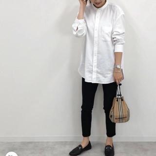 UNIQLO - 11/11迄❗️新品ユニクロメンズオーバーサイズフランネルスタンドカラーシャツ