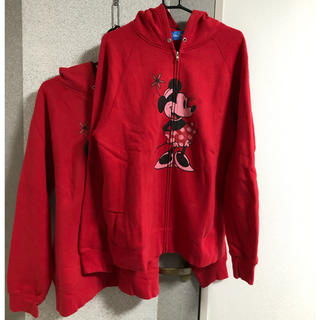 ディズニー(Disney)のミッキー ディズニー パーカー 上着 マフラー セット ペアルック(パーカー)