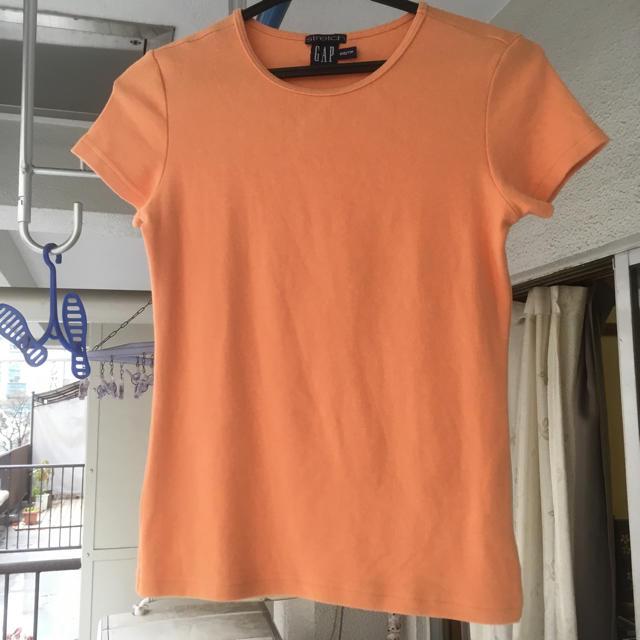 GAP(ギャップ)のGAP ストレッチTシャツ オレンジ xxs レディースのトップス(Tシャツ(半袖/袖なし))の商品写真