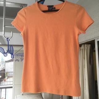 ギャップ(GAP)のGAP ストレッチTシャツ オレンジ xxs(Tシャツ(半袖/袖なし))