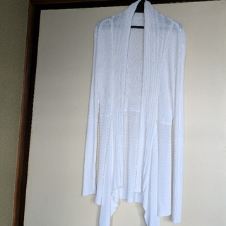 アーモワールカプリス(armoire caprice)の白☆ロングカーディガン送料込み(カーディガン)