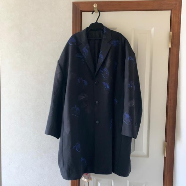 LAD MUSICIAN(ラッドミュージシャン)のsuper big long jacket 18aw 花柄 メンズのジャケット/アウター(チェスターコート)の商品写真