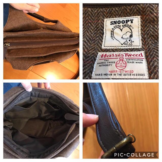 しまむら(シマムラ)のハリスツイード ×スヌーピー  ショルダー レディースのバッグ(ショルダーバッグ)の商品写真