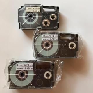 カシオ(CASIO)のCASIO ネームランド テープ 3個セット 新品未使用❗️(テープ/マスキングテープ)