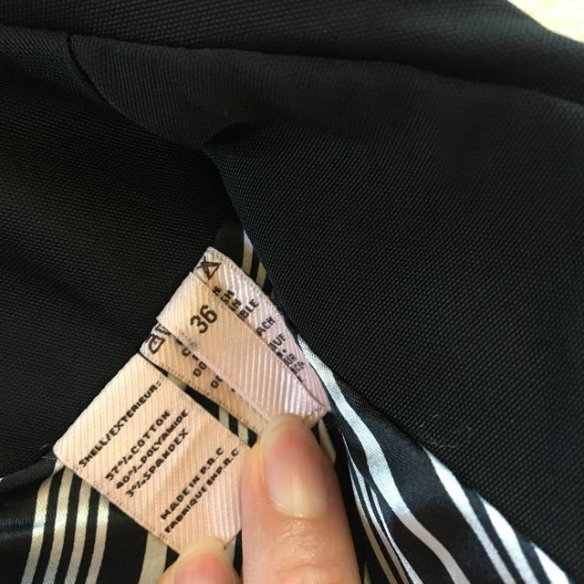 ZARA(ザラ)のトレンチコート黒 レディースのジャケット/アウター(トレンチコート)の商品写真